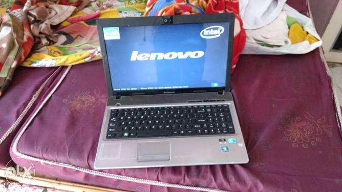 Gray And Black Lenovo Laptop