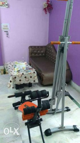 Gray And Orange Abdominal Gym Equipment