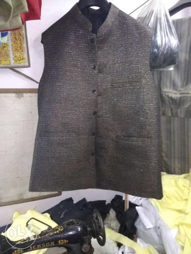 Gray Button-up Vest