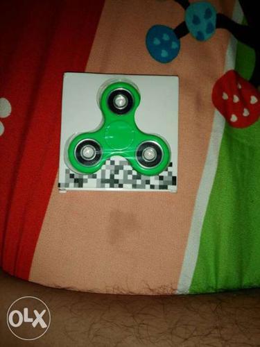 Green And Black Fidget Hand Spinner