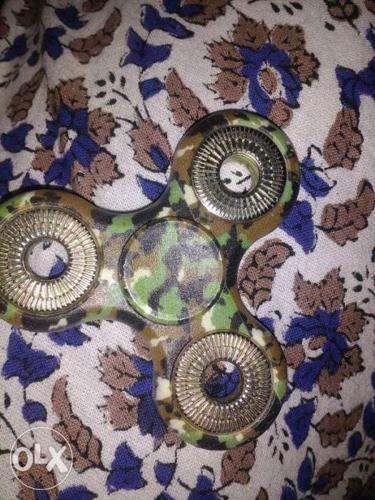 Green Camouflage Fidget Spinner