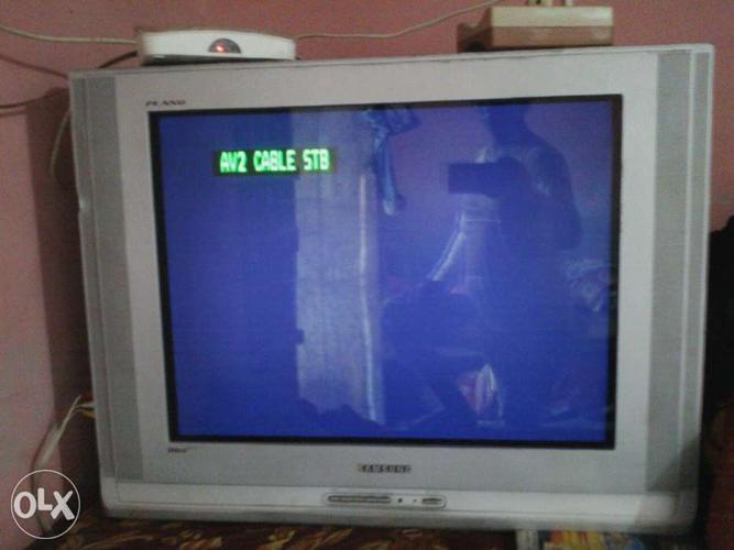 Grey Crt Tv