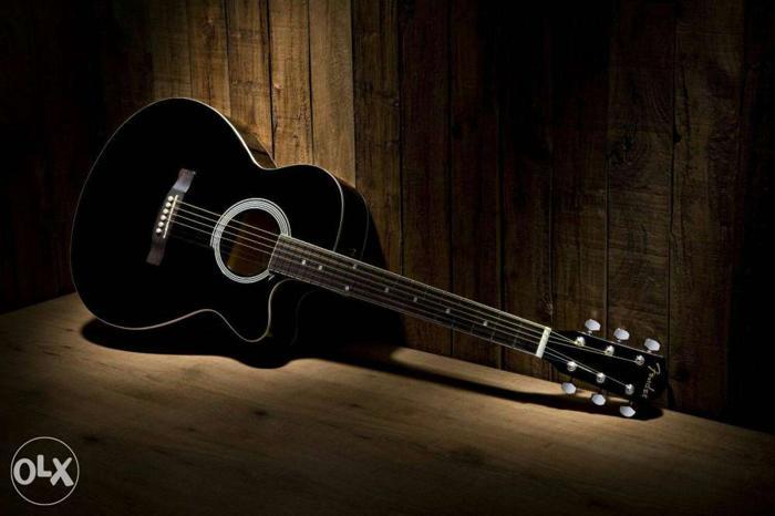 Guitar for beginners black color.