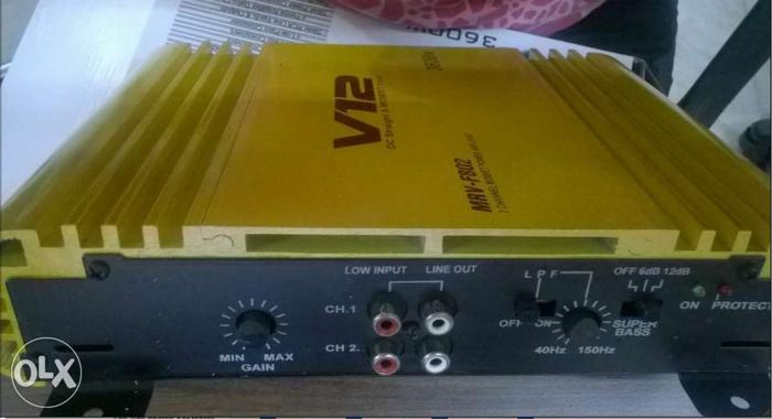 High quality n real price Car Amplifier 2 Channel v12 for Sale in