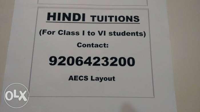 Hindi Tuition