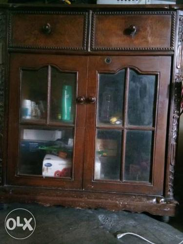 I want to sell, Brown Wooden Cabinet (t.v.