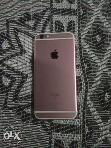 Iphone 6s 64 Gb rose gold with charger headphone 2 back