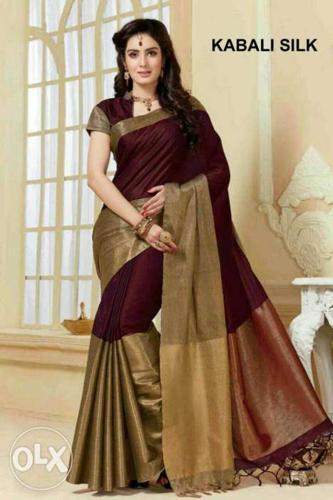 It's a soft cotton silk Sarees &pure cotton