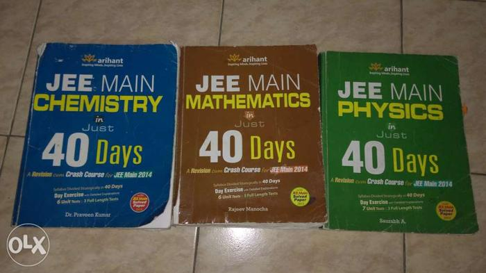 JEE Mains in 40 days - 3 volumes. Sold separately