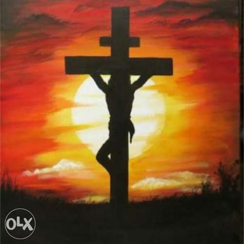 Jesus Christ Crucified On Cross Poster