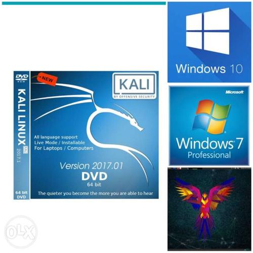 Kali Linux DVD, all windows os , all linux os are