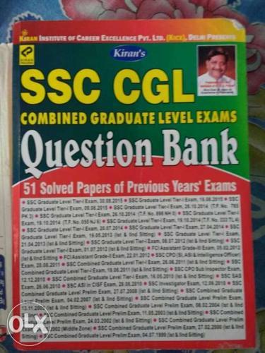 Kiran Ssc cgl question bank. 51 solved set