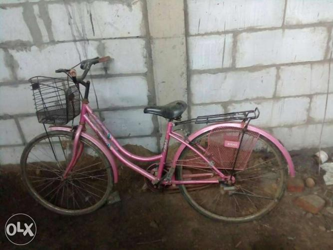 Lady bird pink coloured bicycle on sale in good