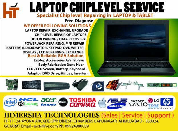 Laptop & Tablet Chiplevel Repairing & Service
