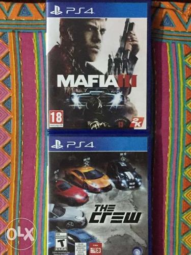 Mafia3 and The Crew PS4 for sale. Both discs in
