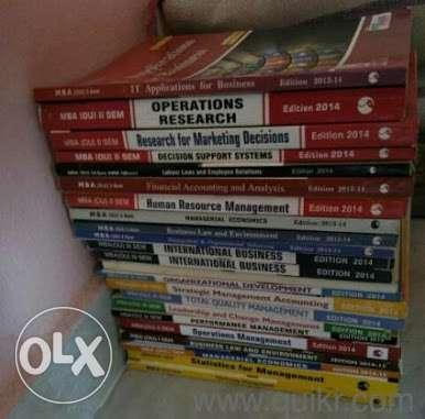 MBA OU all 4 semister books only for 1500 Don't