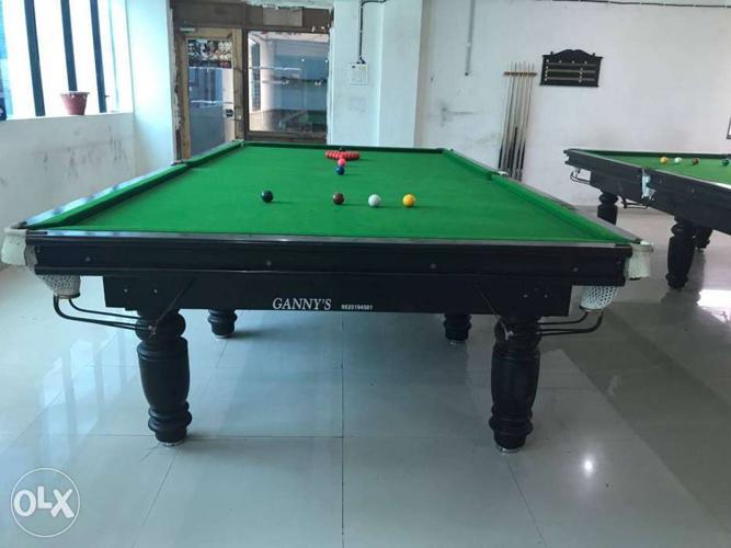 Mini snooker table used green marble base wiraka