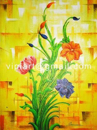 Modern art oil paintings acrylic paintings traditional for Ananthasayanam mural painting