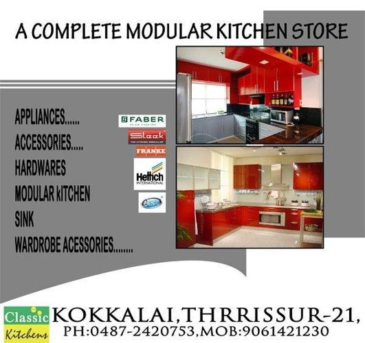 Kitchen Accessories Kochi: Modular Kitchen Designers In Thrissur-Classic Kitchens