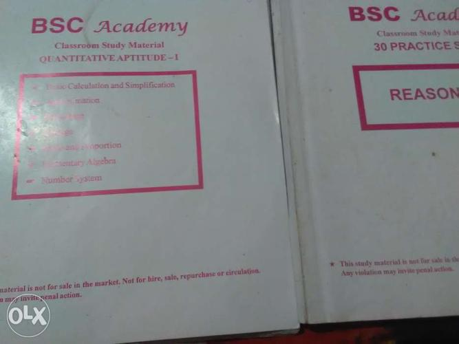 More than 15 pieces of bsc banking material