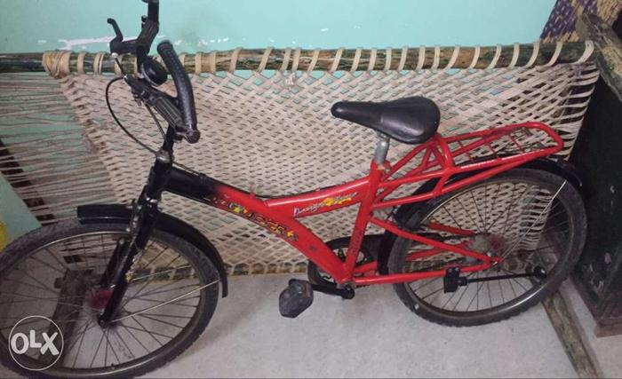 My nephew bicycle. Now it is unused due to he