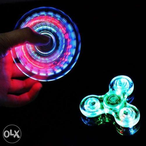 New LED Crystal fidget Spinner Drop/Splash proof