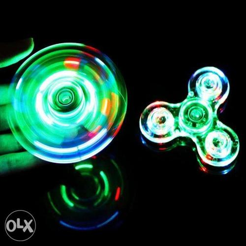 New LED Crystal fidget Spinner Drop/Splash proof