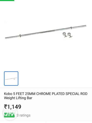 New packKobo 5 Feet 25 Mm Chrome Plated Rod Weighing