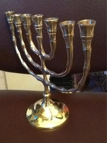 New pure brass candle stands, made in Jerusalem, Israel