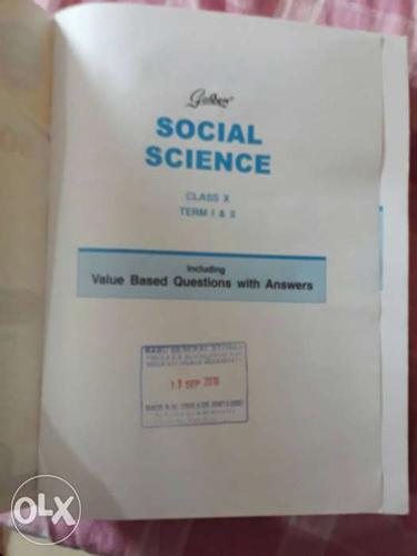 New social science golden guide in new condition.price