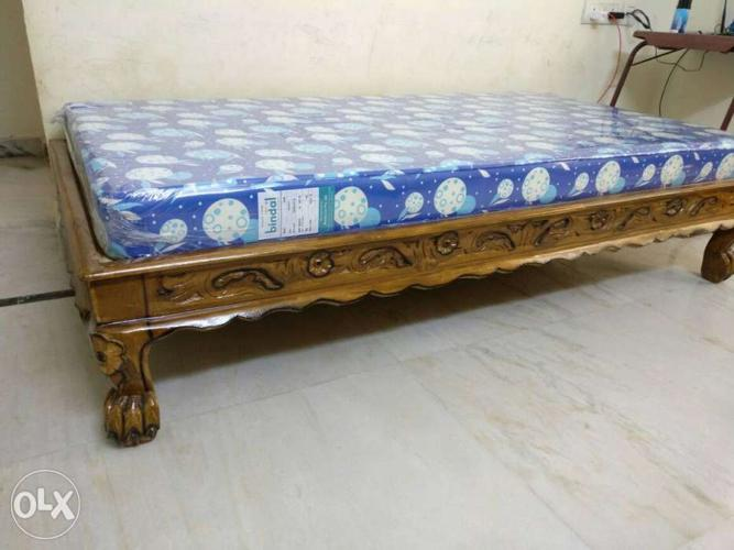 New Teak Wood Diwan Cot With Brand New Bindal For Sale In