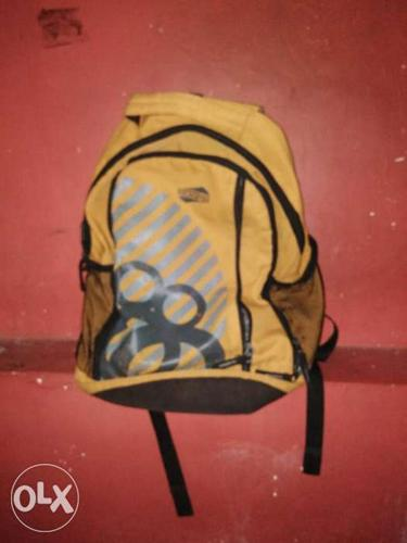 Orange And Black Backpack