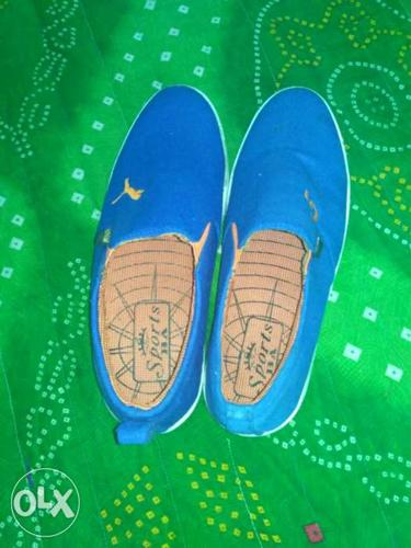 Pair Of Blue Slip-on Shoes fixed price not used new