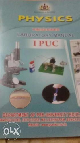 Physics lab manual for 1st puc bangalore board   for Sale in