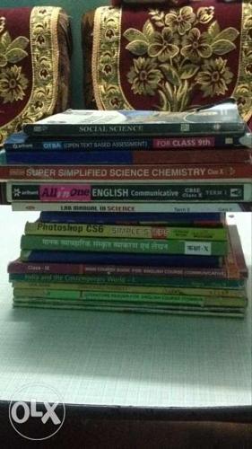 Pile of cbse 10th books