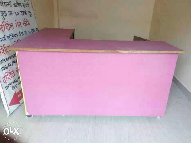 Pink Wooden Desk