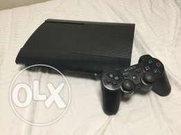 Playstation 3 super slim 500 GB with 21 games.
