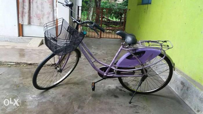 Purple And Black City Bike