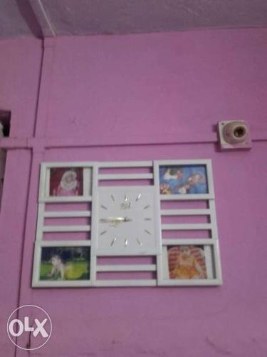 Rectangular White Analog Clock