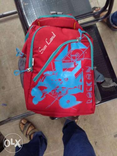 Red And Blue Sim Land Backpack