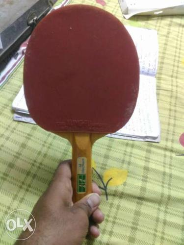 Red And Brown Table Tennis Racket