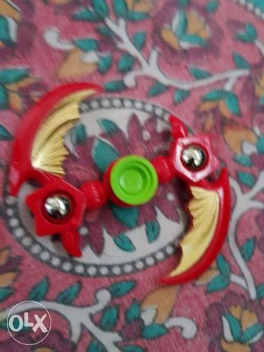 Red And Green Hand Spinner