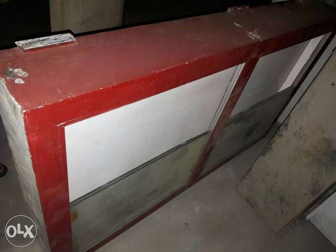 Red And White Wooden Board