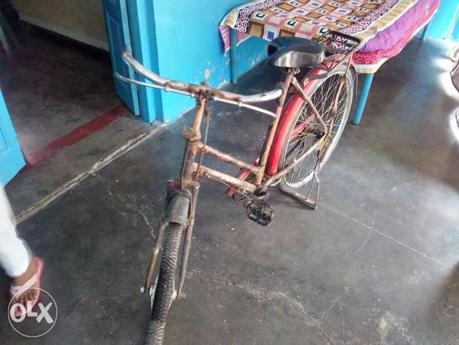 Red Beach Cruiser Bicycle