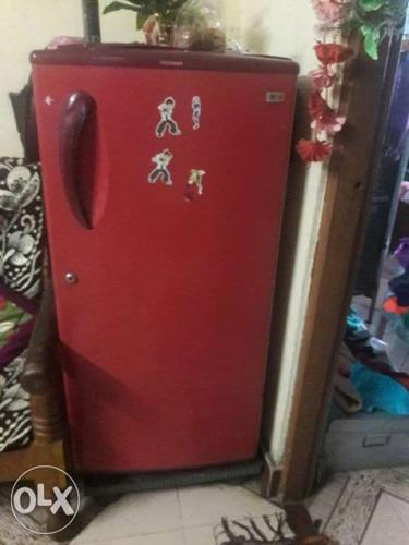 Red Single Door Refrigerator