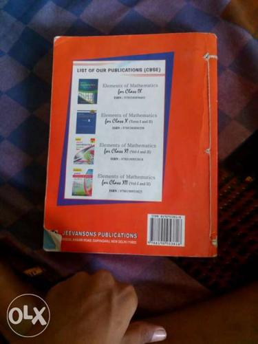 Red Softcover Book