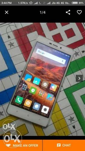 Redmi 3s prime 4month old all acesories are available