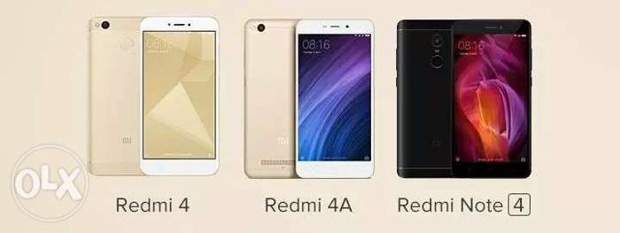 Redmi 4 3GB/4GB Black/Gold Redmi Note 4 3GB/4GB