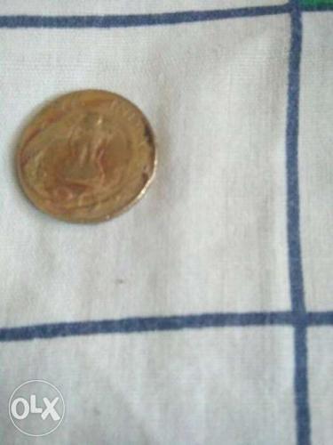 Round Bronze Coin