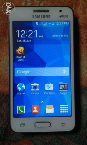 Samsung core 2 for sell with charger 1 year old